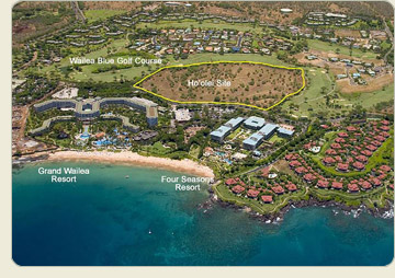 Aerial rendering of Ho'olei Site